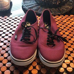 NWOT. Vans. Maroon Shoes. Size 6M (7.5W)